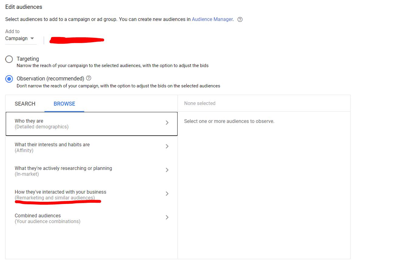 วิธีทำ remarketing ด้วย google ads